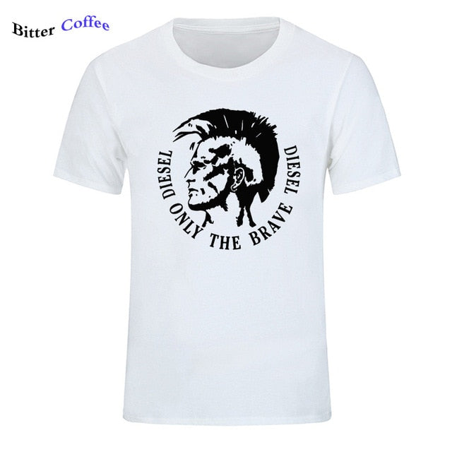 Diesel print men T shirt for men casual top