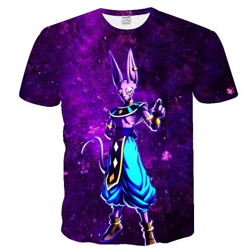 Anime Dragon Ball Z 3D printing Men's T-shirt