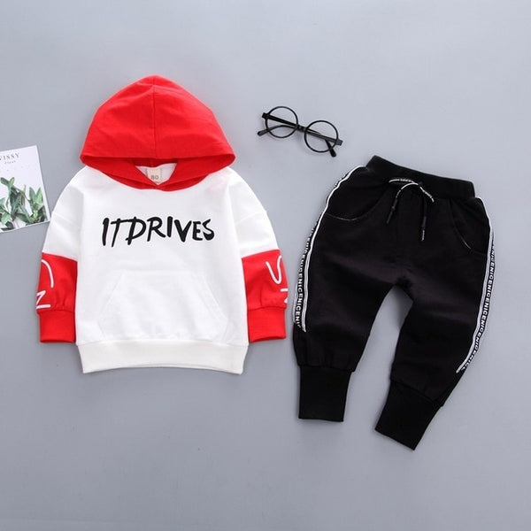 Casual Sports T-shirt Pants 2PCs For Kids