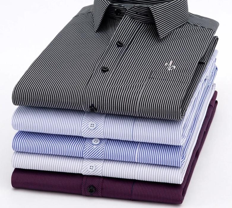 Striped Long Sleeve Shirts For Male