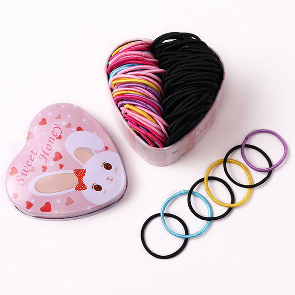 Girls Colorful Basic Elastic Hair Bands