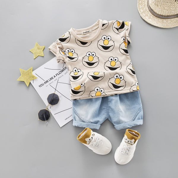 Cute Summer Shorts Suit for Kids