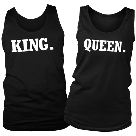 King & Queen Trendy tank tops