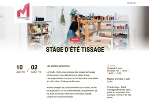 Stage tissage contemporain