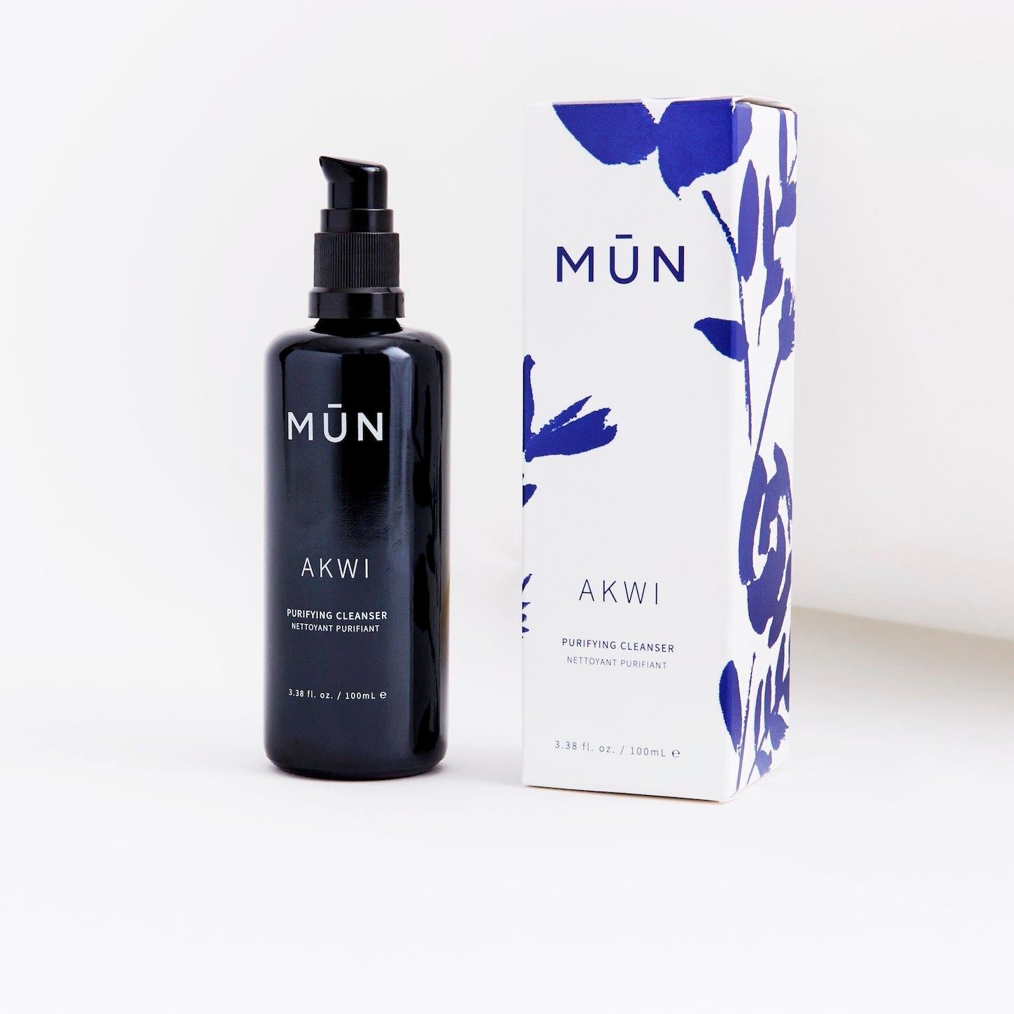 MUN Akwi Purifying Cleanser Packaging - Natural & Organic Skin Care