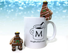 "Load image into Gallery viewer, ""Winter Lighthouse"" Mug Buddy Topper Duo"