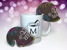 "Load image into Gallery viewer, ""Day of The Dead"" Mug Buddy Topper Duo"