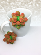 "Load image into Gallery viewer, ""Bouquet of Roses"" Mug Buddy Topper Duo"