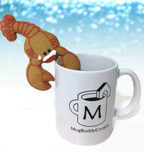 "Load image into Gallery viewer, ""Santa Claws Lobster"" Solo Mug Buddy Topper"
