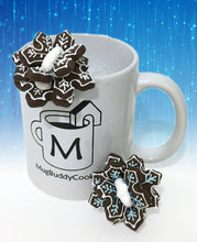 "Load image into Gallery viewer, ""Snowflake"" Mug Buddy Topper Duo"