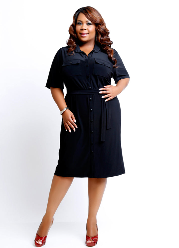 BETTINA Plus Size Shirt Dress ~ Original Price $119.00