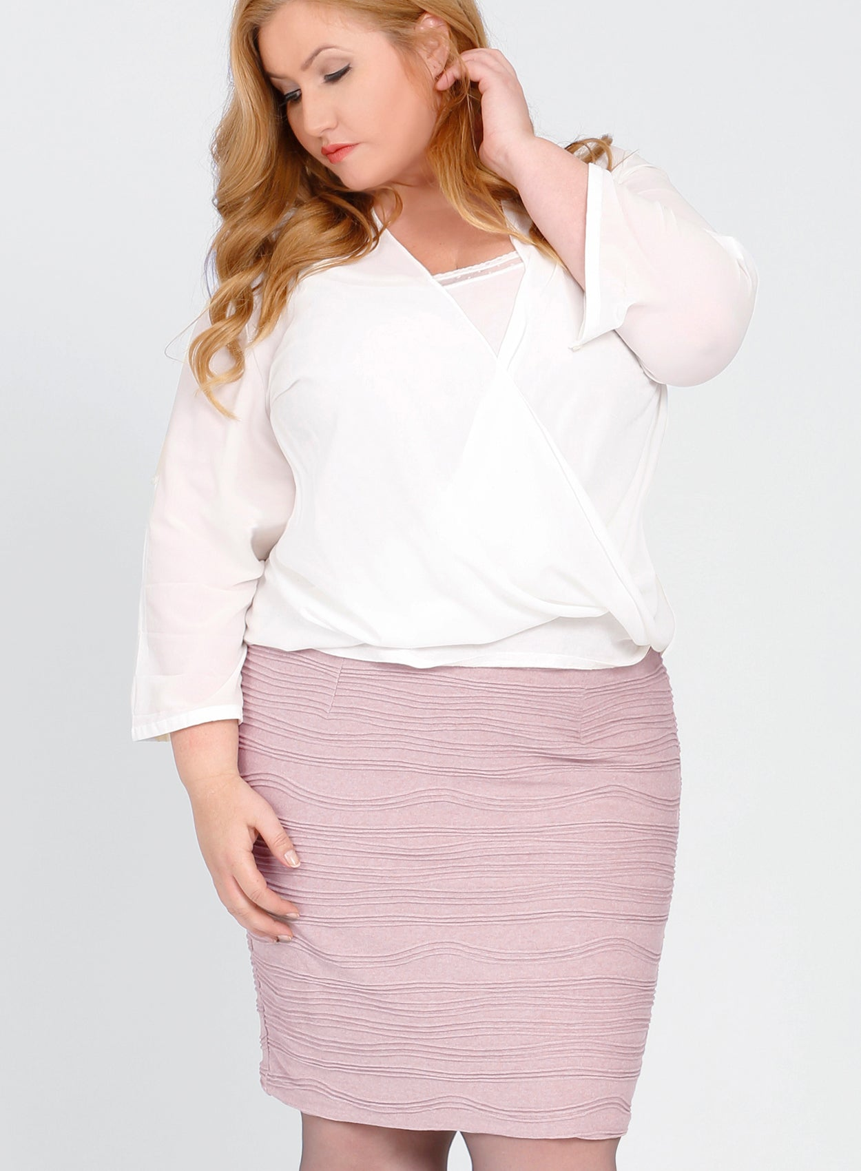 NICOLA Plus Size Pencil Skirt