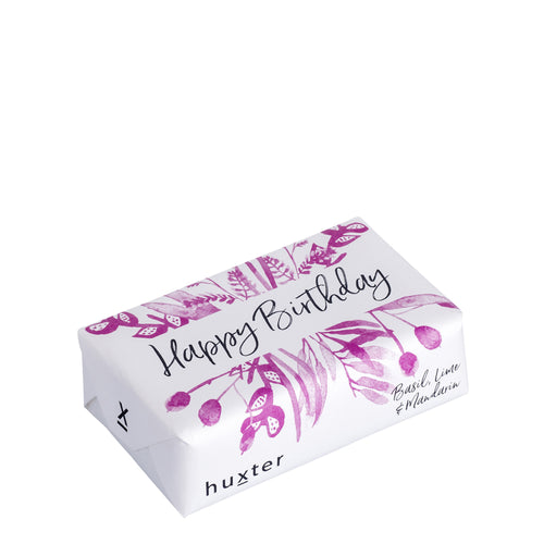 Bar Soap - Fuchsia Flowers - Happy Birthday