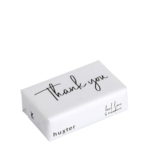 Bar Soap - Thank You - White & Black