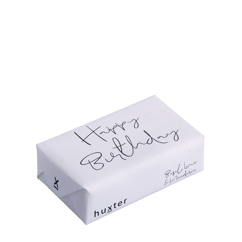 Bar Soap - Happy Birthday, Black and White