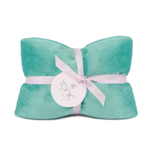 Luxe Velvet Heat Pillow Seafoam