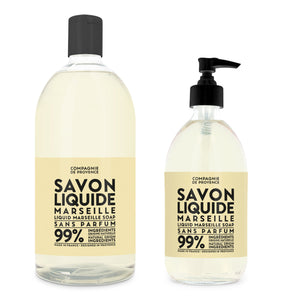Liquid Marseille Soap & Refill Set - Fragrance Free