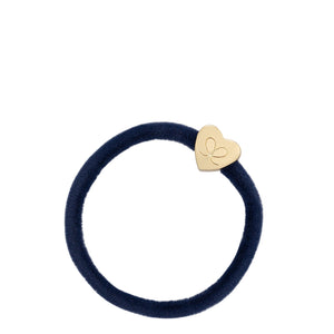 Velvet Gold Heart - Navy