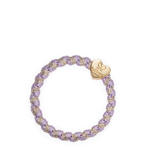 Woven Gold Heart - Lavender