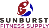Sunburst Fitness Supply logo with person holding dumbbell