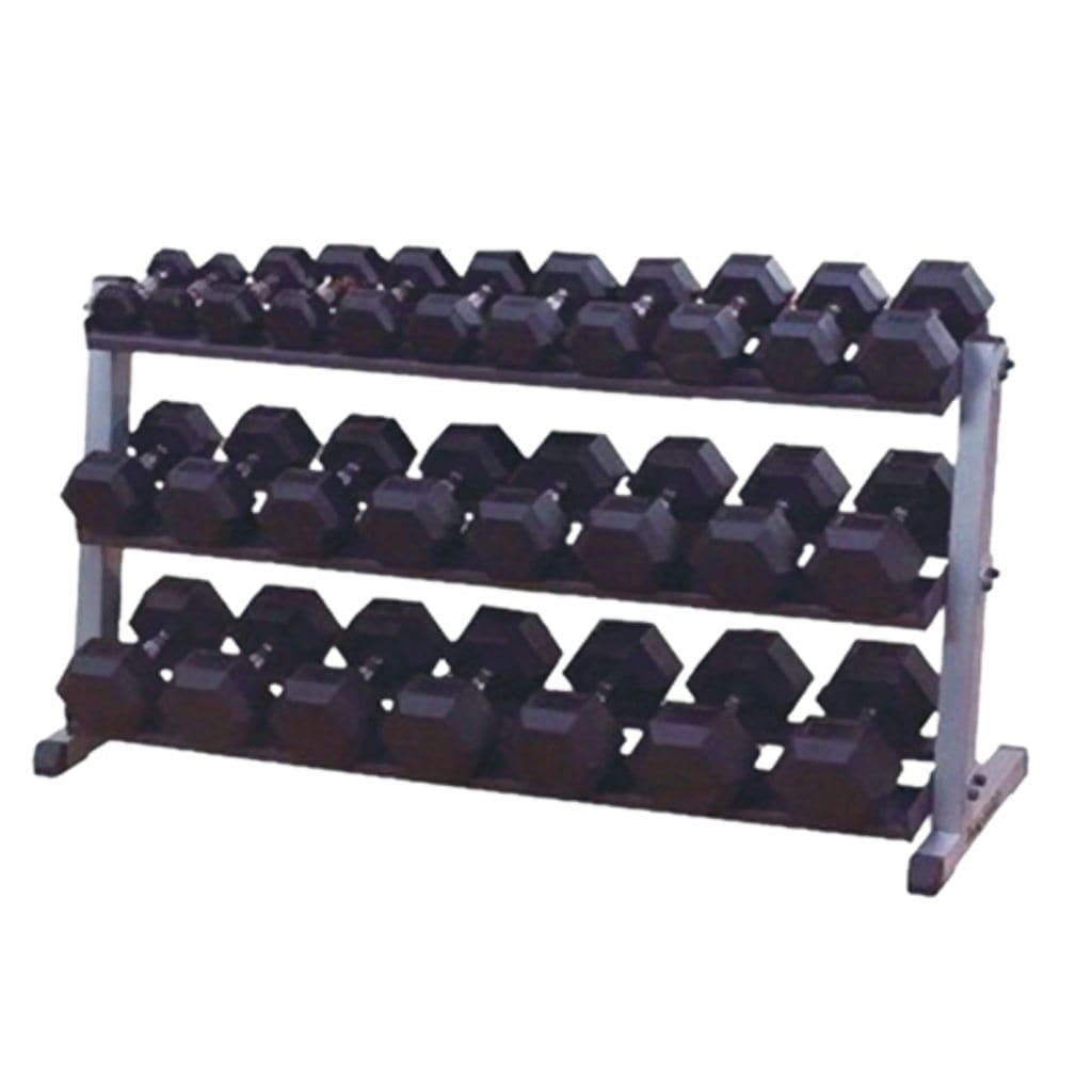 Apollo Athletics 3 Tier Rubber Hex Dumbbell Rack weight rack Apollo Athletics