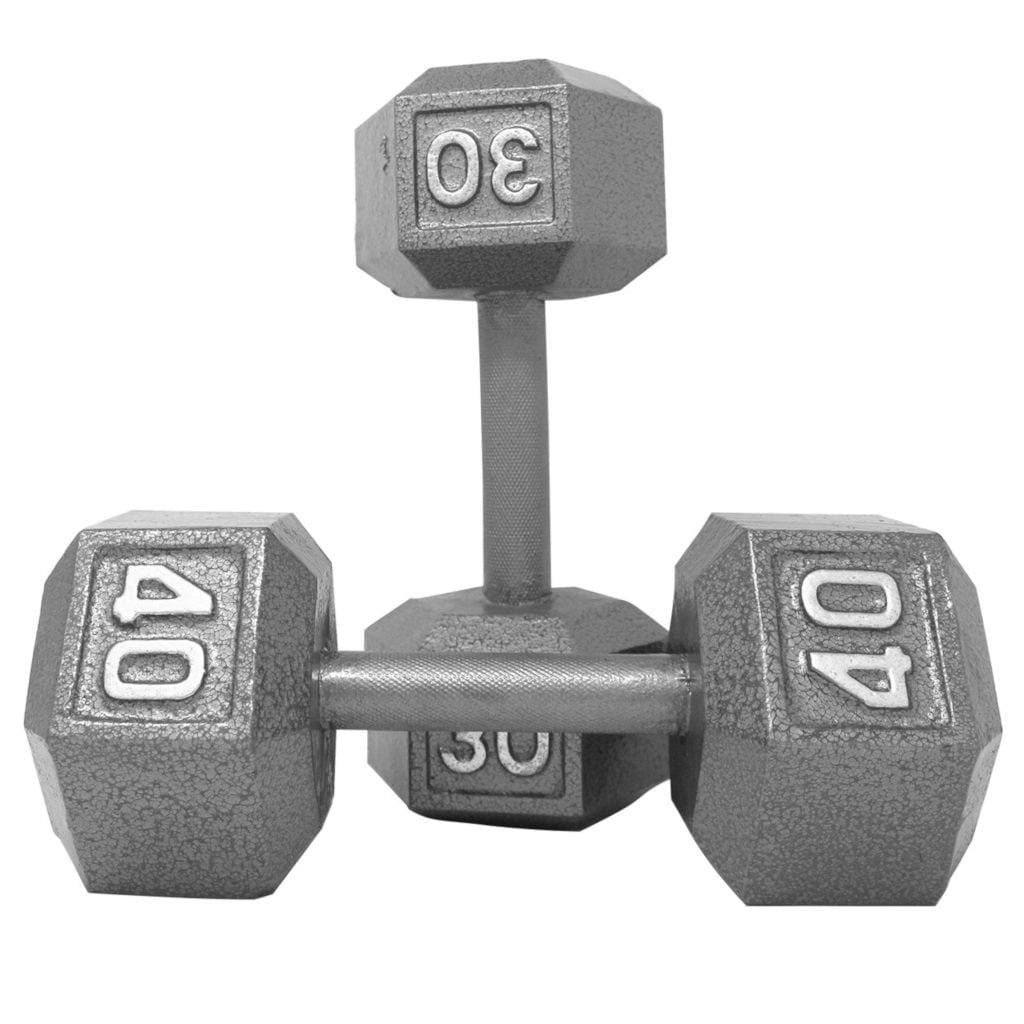 Apollo Athletics Grey Cast Iron Hex Dumbbell dumbbell Apollo Athletics