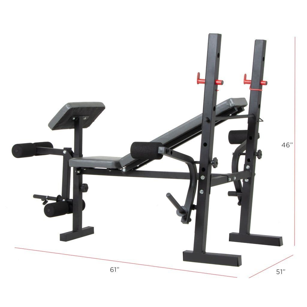 Buy The Body Champ Bcb580 Standard Weight Bench With Free