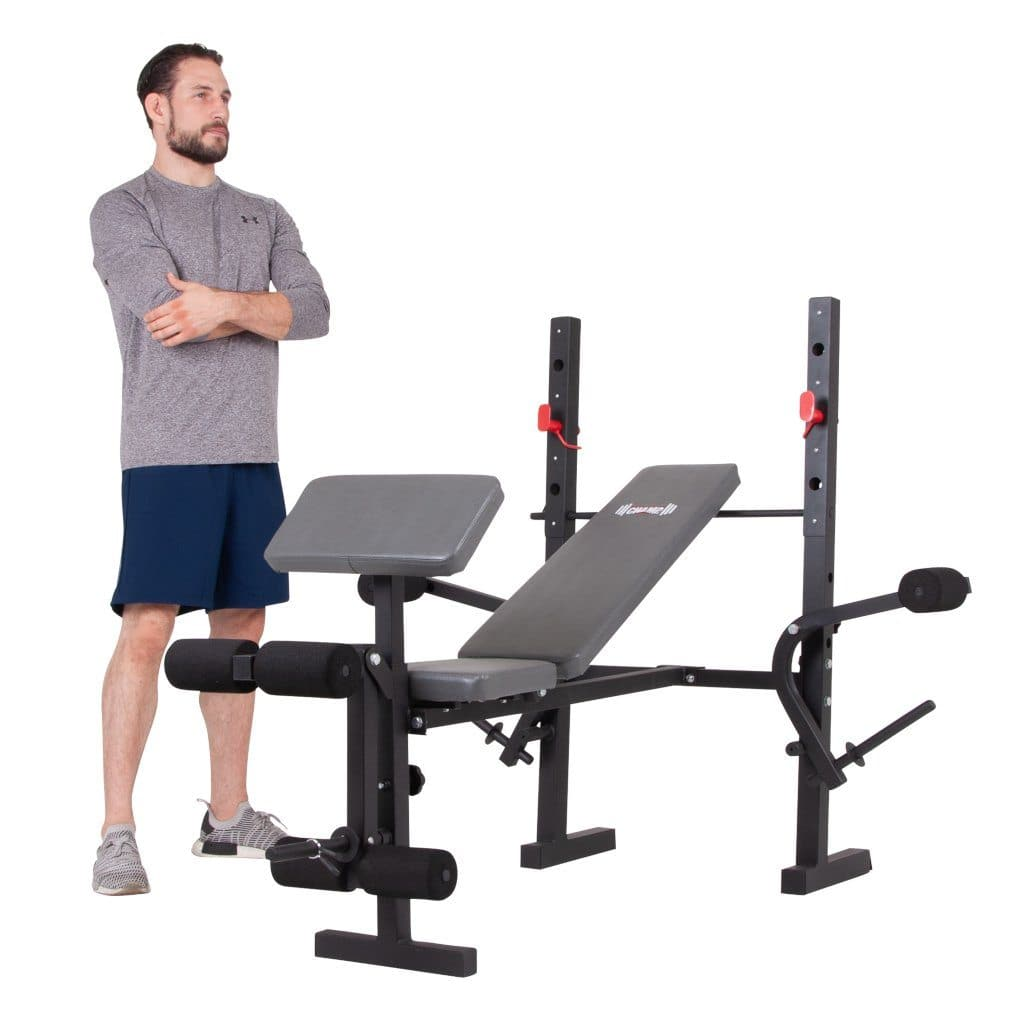 Body Champ BCB580 Standard Weight Bench with Butterfly and Preacher Curl bench Body Champ