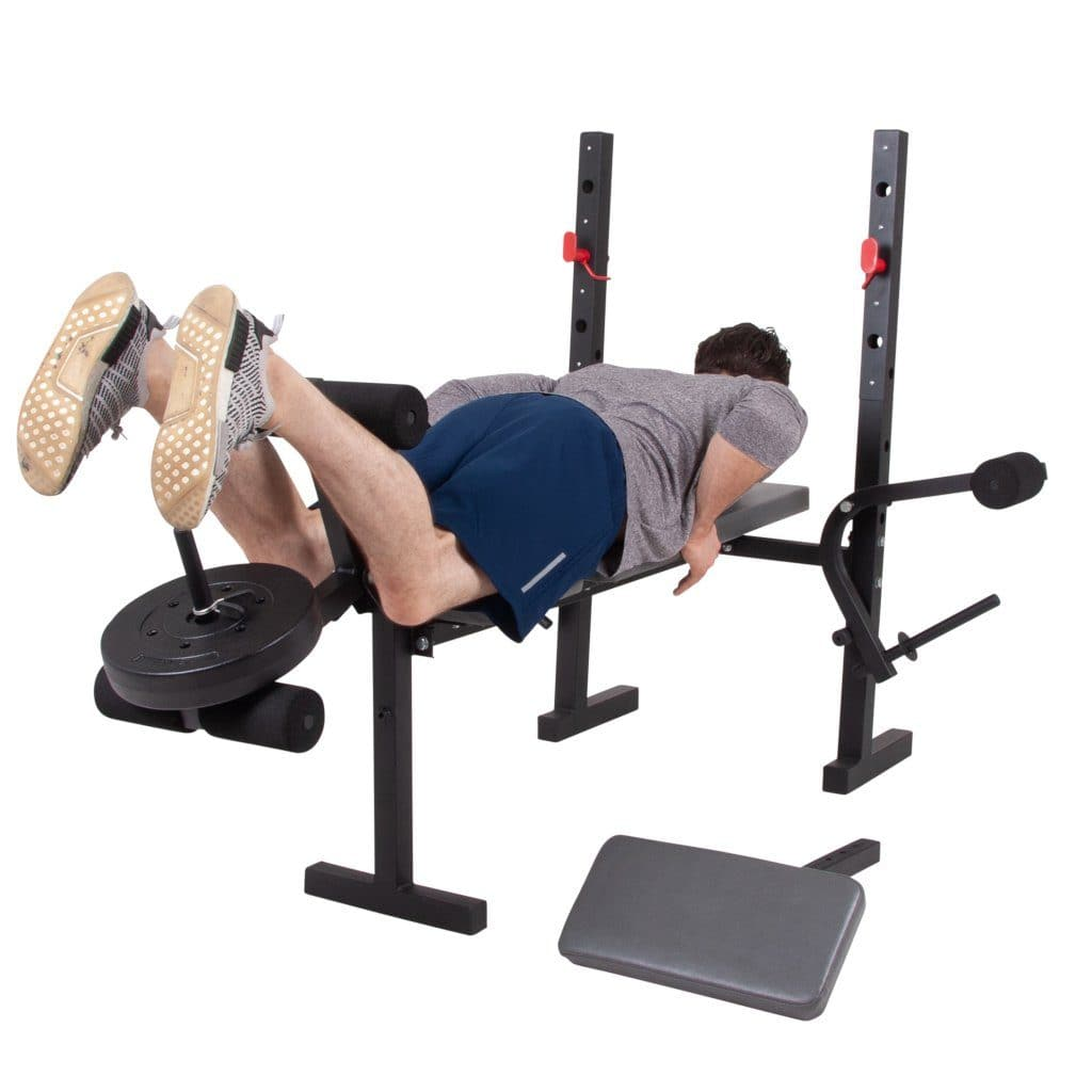 Opti Butterfly Workout Bench with Leg Curls /& Fly Attachment
