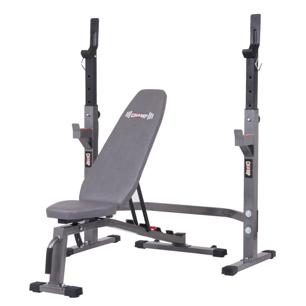 Body Champ PRO3900 Two Piece Set Olympic Weight Bench with Squat Rack bench Body Champ