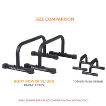 Body Power PL1000 Push Up Stand Parallettes functional fitness Body Power