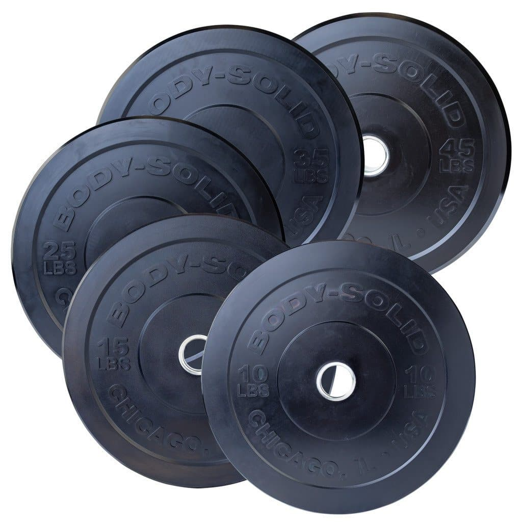 Body-Solid Black Chicago Extreme Bumper Plates plate Body-Solid