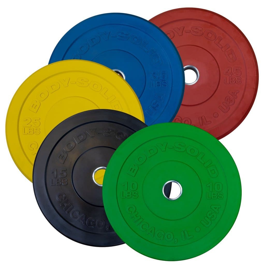 Body-Solid Chicago Extreme Colored Bumper Plates plate Body-Solid