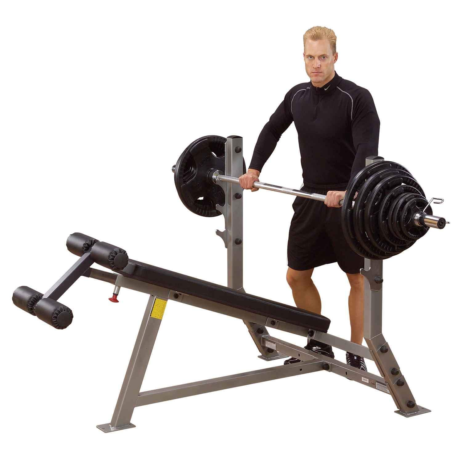 Body-Solid Decline Olympic Bench (SDB351G) bench Body-Solid