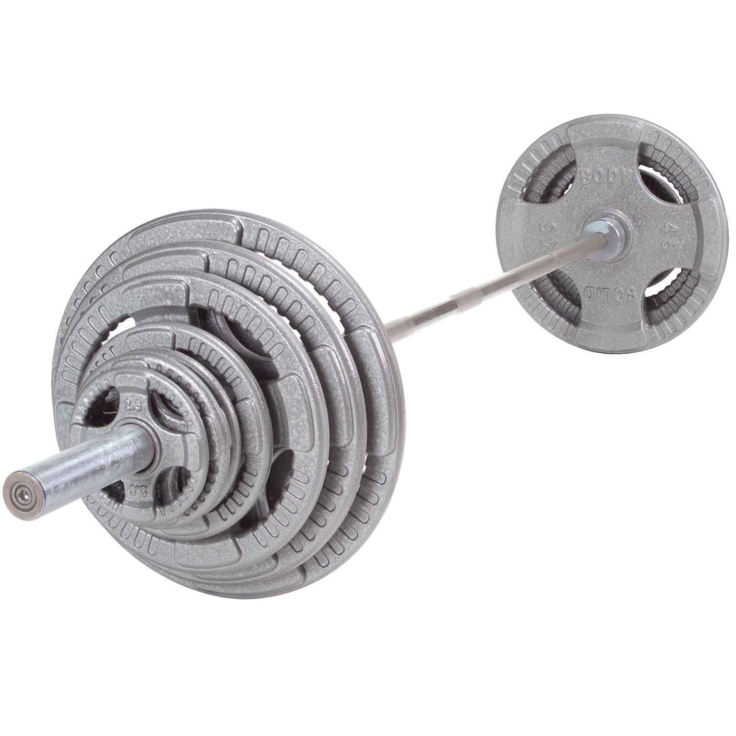 Body-Solid Steel Olympic Grip Plate Set with Bar plate Body-Solid Iron