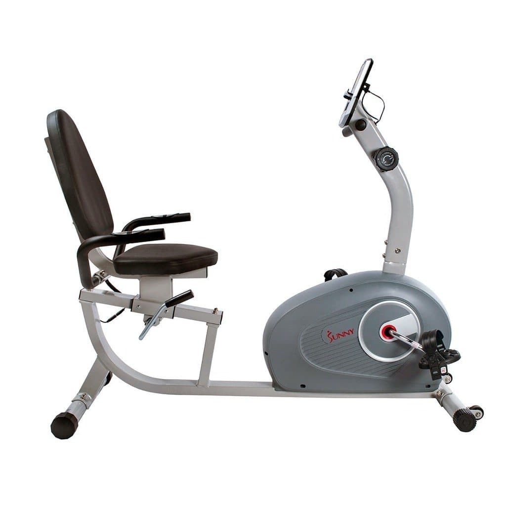 Sunny Health & Fitness Magnetic Recumbent Bike Cardio Training Sunny Health and Fitness