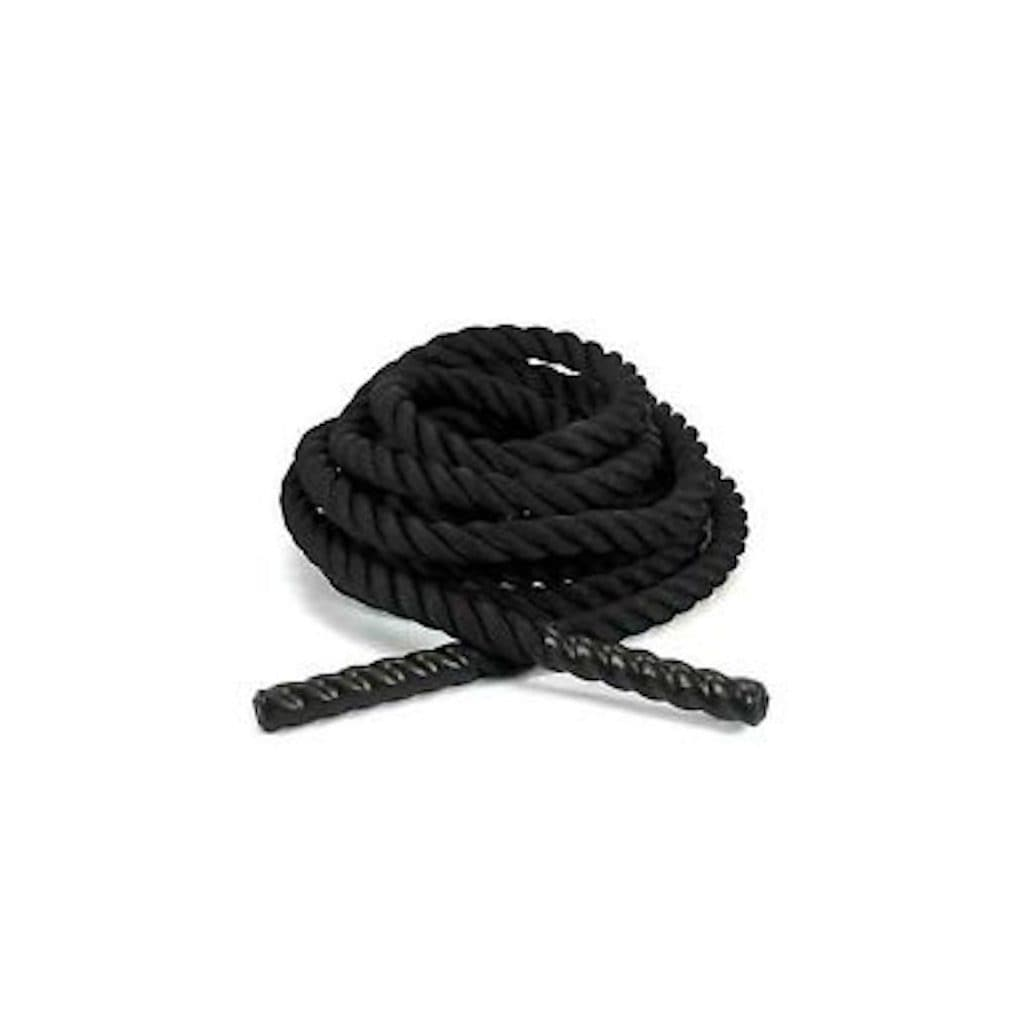 TAG Fitness Black Polydacron Battle Rope With Heat Shrink Grips Undulation Rope TAG Fitness