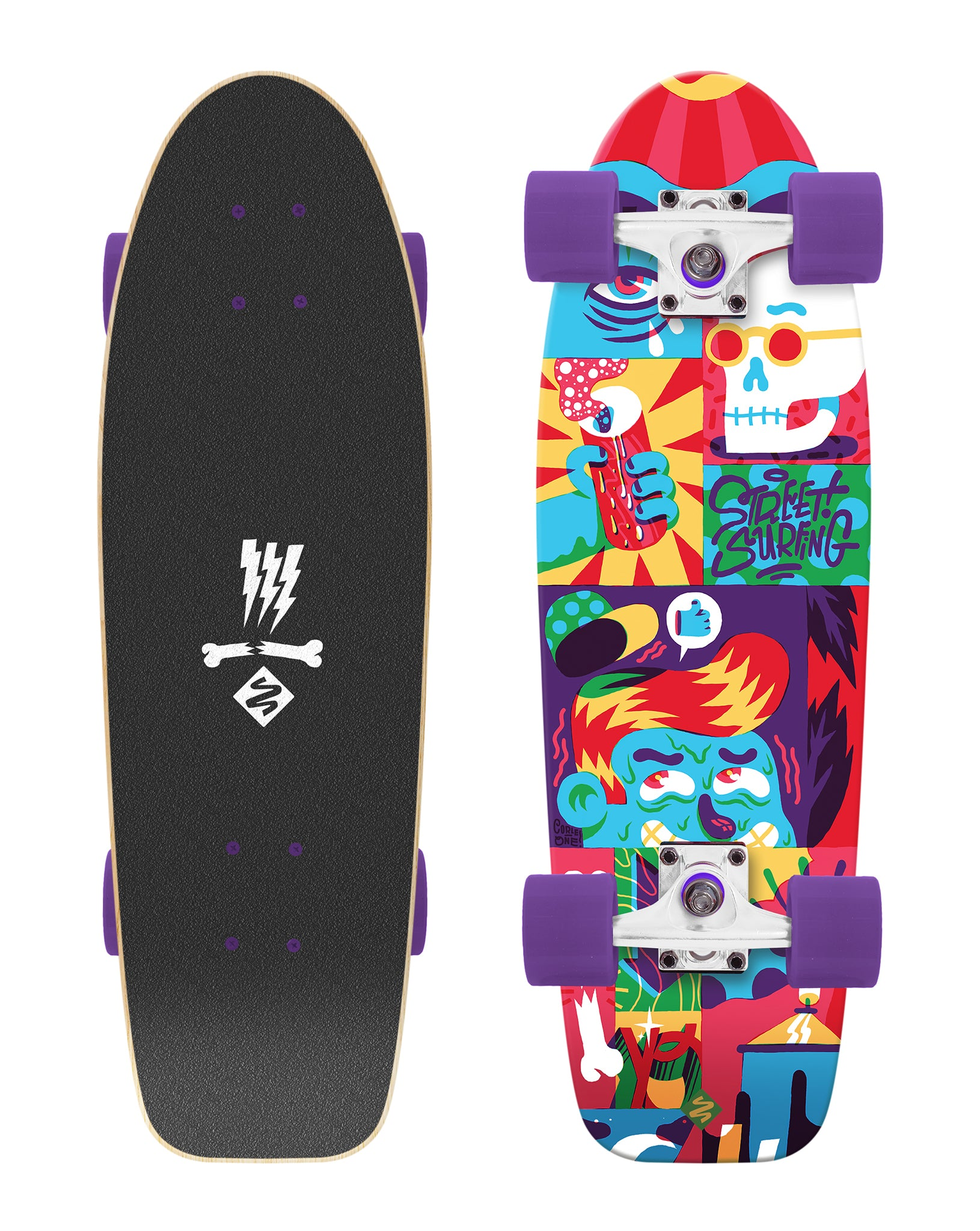 "Cruiser Kicktail 28"" Comics - Artist Series"