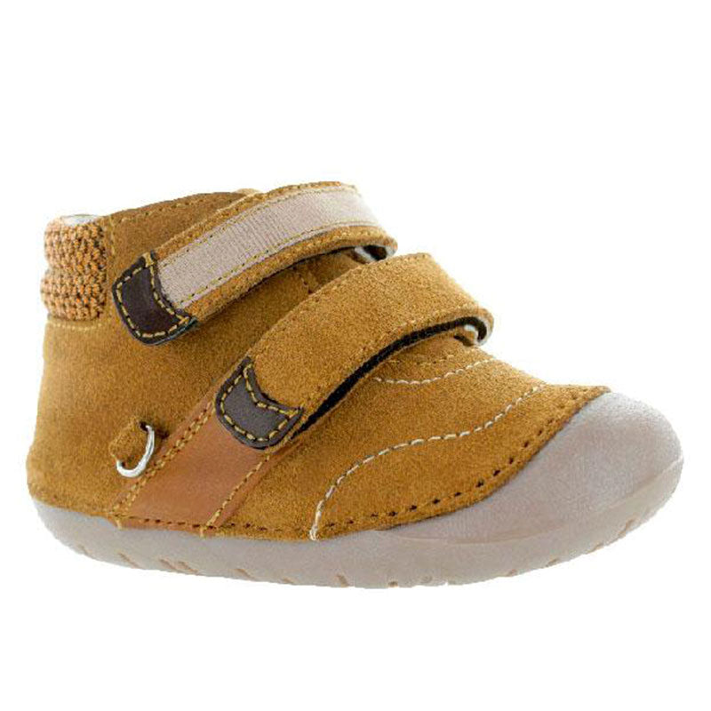 Bota-Flexible-Doble-Velcro-Color-Cafe-Para-Nino-Primeros-Pasos