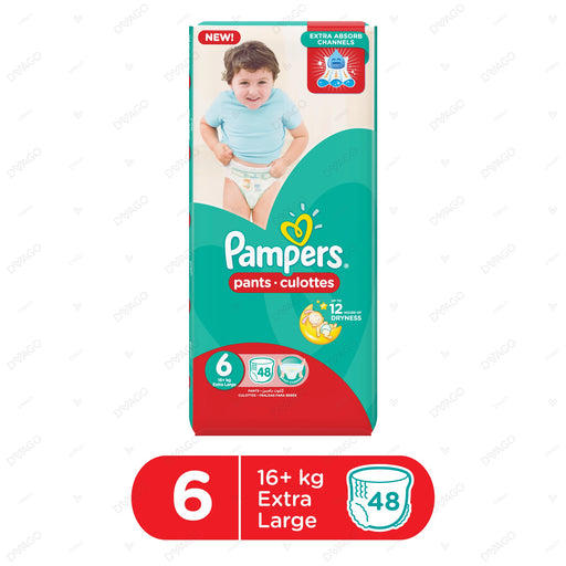 Pampers Pants Diapers XXLarge Size 6 48 Count