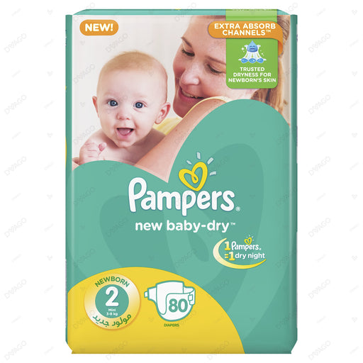 Pampers Baby Dry Diapers Small Size 2 80 Count