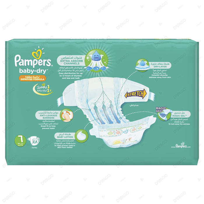 Pampers Baby Dry Diapers Xx Large Size 6 48 Count