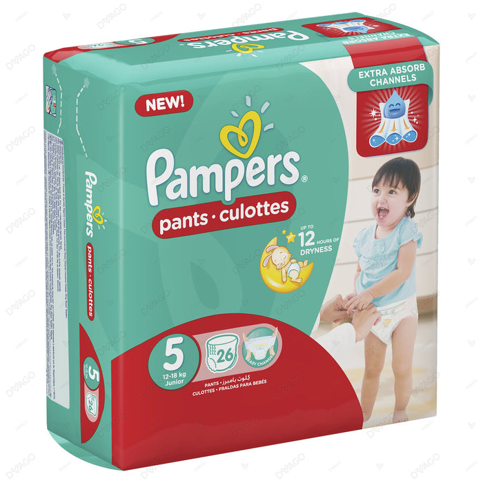 Pampers Pants Diapers Extra Large Size 5 26 Count