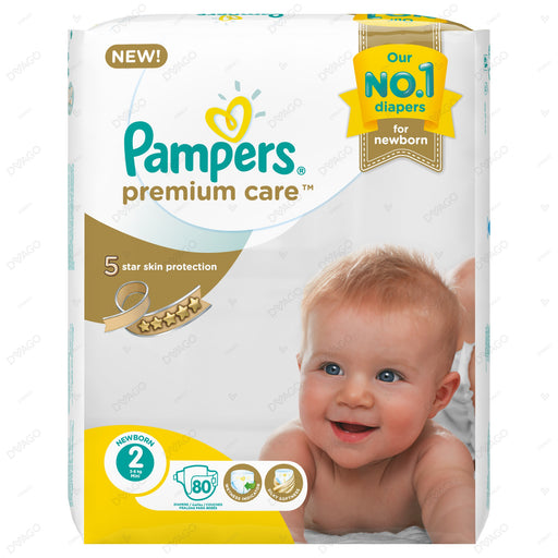 Pampers Premium Care Diapers Small Size 2 80 Count