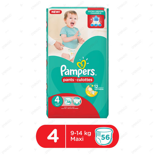 Pampers Pants Diapers Large Size 4 56 Count