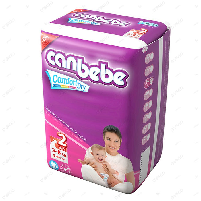 CANBEBE MINI COMFORT DRY DIAPERS PACK OF 9