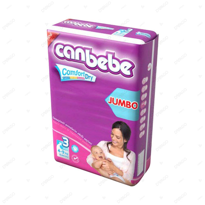 CANBEBE MIDI COMFORT DRY DIAPERS PACK OF 8