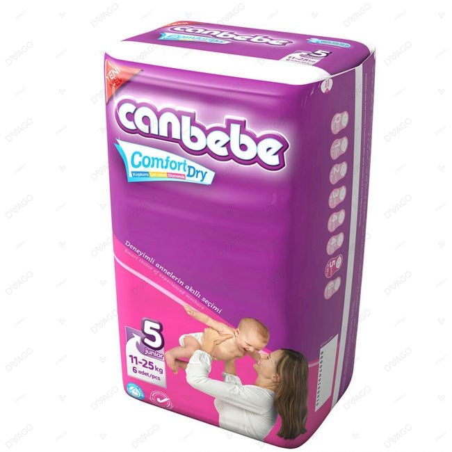 CANBEBE JUNIOR COMFORT DRY DIAPERS PACK OF 6