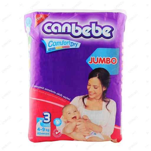 CANBEBE MIDI COMFORT DRY DIAPERS PACK OF 62