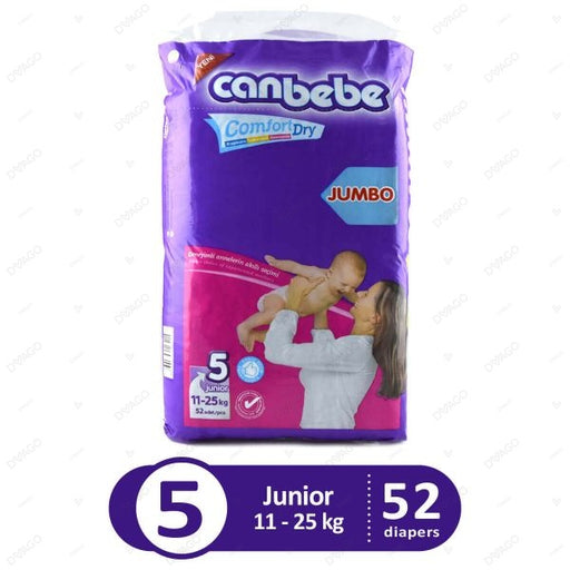 CANBEBE JUNIOR COMFORT DRY DIAPERS PACK OF 52